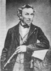 Theobald Boehm Flute Inventor Thinned Wooden Headjoint